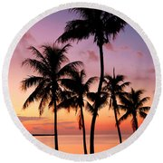 Florida Breeze Round Beach Towel by Chad Dutson