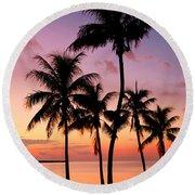 Florida Breeze Round Beach Towel