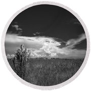 Florida Flat Land Round Beach Towel