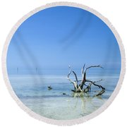 Florida Keys Lonely Root Round Beach Towel