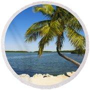 Florida Keys Round Beach Towel