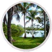 Florida Lake Round Beach Towel