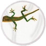 Florida Lizard Round Beach Towel