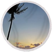 Florida Morning Round Beach Towel