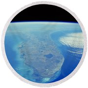 Florida Peninsula, Discovery Shuttle Round Beach Towel
