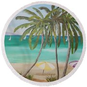 Florida Shade Round Beach Towel