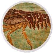 Florida Spiny Lobster Round Beach Towel