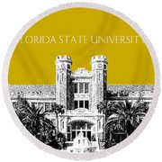 Florida State University - Gold Round Beach Towel