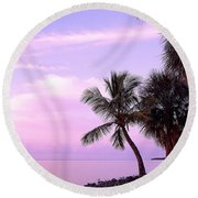 Florida Sunrise Round Beach Towel