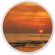 Florida Sunset Round Beach Towel by Sandy Keeton