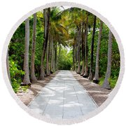 Florida Walkway Round Beach Towel