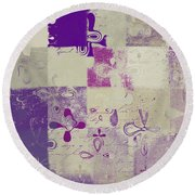 Florus Pokus 02d Round Beach Towel by Variance Collections