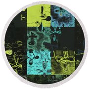 Florus Pokus A02 Round Beach Towel by Variance Collections