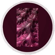 Flourishes - Phone Cases And Cards Round Beach Towel