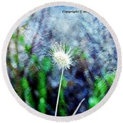 Flower As A  Painting Round Beach Towel