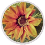 Flower Beauty I Round Beach Towel