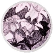 Flower Burst Original Round Beach Towel