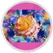 Flower Dance 2 Round Beach Towel