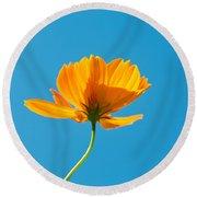 Flower - Growing Up In Brooklyn Round Beach Towel