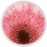Flower - I Love Pink Round Beach Towel
