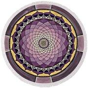 Flower Mandala Round Beach Towel