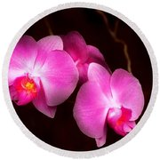 Flower - Orchid - Better In A Set Round Beach Towel