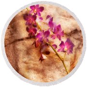Flower - Orchid - Just Splendid Round Beach Towel