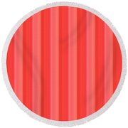 Flower Petal Petal Art From Cherryhill Nj America Micro Patterns Red Color Tones Light Shades   Round Beach Towel