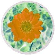 Flower Power 1433 Round Beach Towel