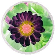 Flower Power 1435 Round Beach Towel