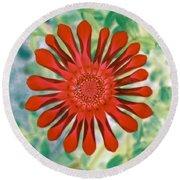 Flower Power 1438 Round Beach Towel