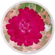 Flower Power 1441 Round Beach Towel