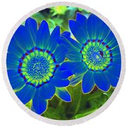 Flower Power 1451 Round Beach Towel