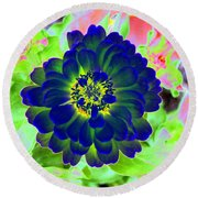 Flower Power 1460 Round Beach Towel