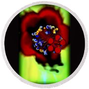 Flower With'in Round Beach Towel
