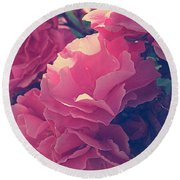 Flowering Blossoms Round Beach Towel