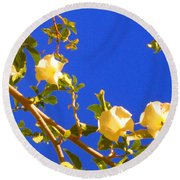 Flowering Tree 1 Round Beach Towel