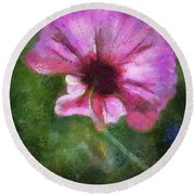 Flowers Are Gods Way 02 Round Beach Towel