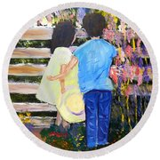 Flowers For Her Round Beach Towel