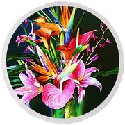 Flowers For You 1 Round Beach Towel