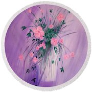 Flowers From The Field Round Beach Towel