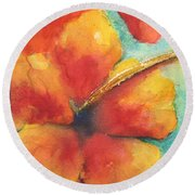 Flowers In Bloom Round Beach Towel