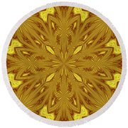 Flowers In The Paradise Round Beach Towel