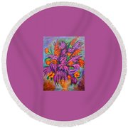 Flowers Of Passion Round Beach Towel