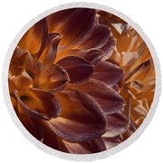 Flowers Should Also Turn Brown In Autumn Round Beach Towel