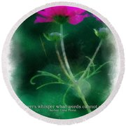Flowers Whisper 01 Round Beach Towel