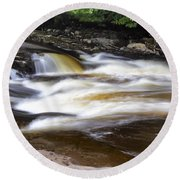 Flowing And Cascading At The Falls Of Dochart - Killin Scotland Round Beach Towel