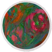 Flowing Color Round Beach Towel