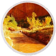 Flowing From Capital Reef Round Beach Towel