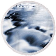 Flowing Stream Round Beach Towel by Les Cunliffe